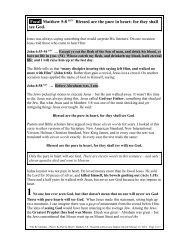 Part 2: Be Pure In Heart - Bibleteacher.org