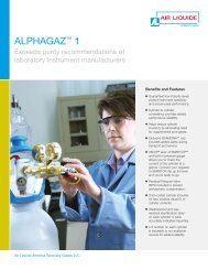 ALPHAGAZ 1 Pure Specialty Gases from Air Liquide