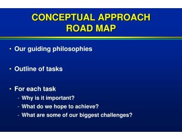 conceptual approach road map - State Water Resources Control ...