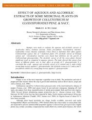 effect of aqueous and alcoholic extracts of some medicinal ... - EISRJC