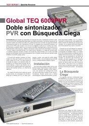 Global TEQ 6000PVR Doble sintonizador PVR con Búsqueda Ciega