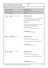Terme, Gleichungen und Formeln