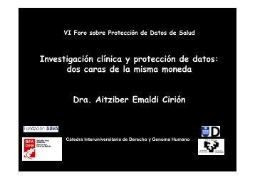Investigación clínica y protección de datos: dos caras de la misma ...