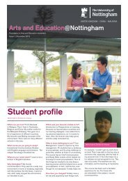 Student profile - The University of Nottingham, Malaysia Campus
