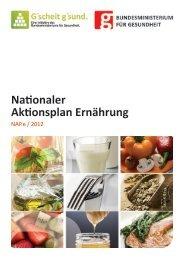 Nationaler Aktionsplan Ernährung - Bundesministerium für Gesundheit