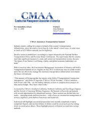 For immediate release Contact: Feb. 11, 2008 John McKeon ... - CMAA