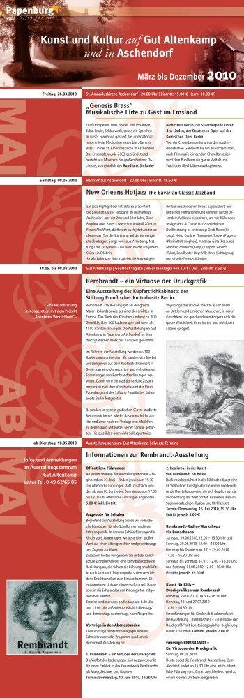 Kunst und Kultur auf Gut Altenkamp und in Aschendorf - Kulturkreis ...