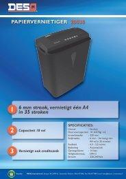 papiervernietiger 20030 - DESQ International