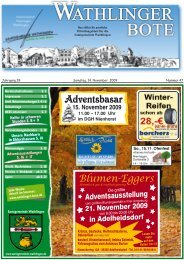 22.11.2009 - Wathlinger Bote