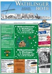 """Die Umwelthausnummer 2007"" – die Preisträger ... - Wathlinger Bote"
