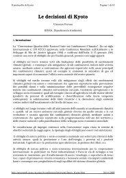 Il protocollo di Kyoto - Regione Molise