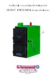 Wood logs boiler with a gasi cation e ect IGNIS 20-40 ... - Termomont