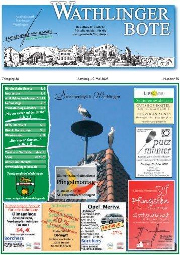Storchenidyll in Wathlingen - Wathlinger Bote