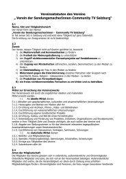 """Vereinsstatuten des Vereins """" Verein der ... - FS1"""