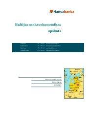 Baltijas makroekonomikas apskats - Swedbank