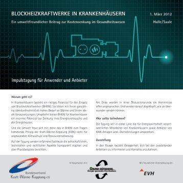 BlockheizkrAftWerke in krAnkenhäusern - Energie sparendes ...