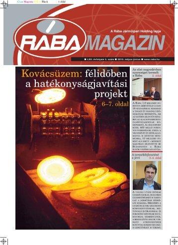 Magazin letöltése PDF formátumban - RÁBA Járműipari Holding Nyrt.