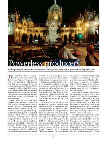 Powerless producers - Tata Power