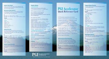PGI Accelerator™ - The Portland Group