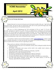 April 2012 - Valley Central School District