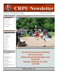 Sept 2012 Newsletter Final.pdf - Canadian Racing Pigeon Union