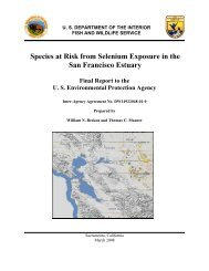 Species at risk from selenium exposure in the - State Water ...