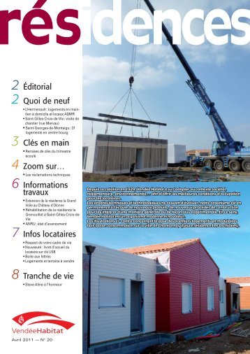 RESIDENCES 20 - mars 2011.indd - Vendée Habitat