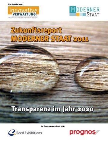 Zukunftsreport MODERNER STAAT 2011 - Prognos AG