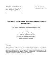 Array Based Measurements of the Time Variant Directive Radio ...