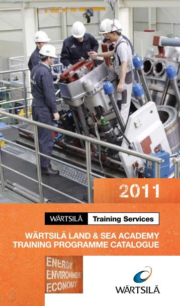 wärtsilä land & sea academy training programme catalogue