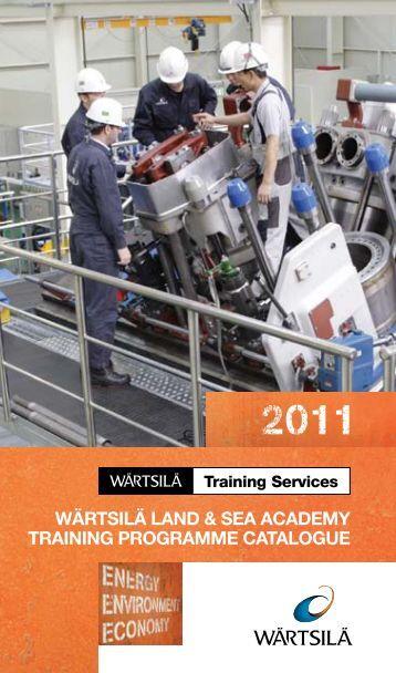 wärtsilä land & sea academy training programme catalogue