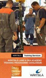 Training Programme Catalogue - Wärtsilä