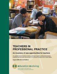Teachers in Professional Practice - Education Evolving