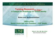 Organizational Structure - University of South Florida