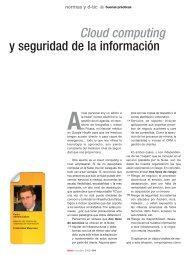 Cloud computing y seguridad de la información