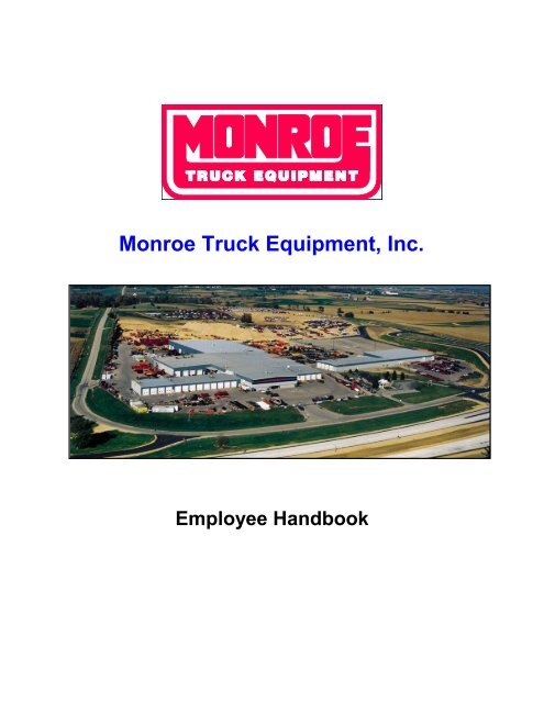 Monroe Truck Equipment >> Employee Handbook Monroe Truck Equipment