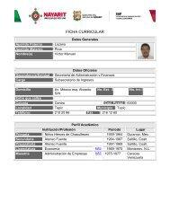 Ficha Curricular - Secretaría de Administración y Finanzas