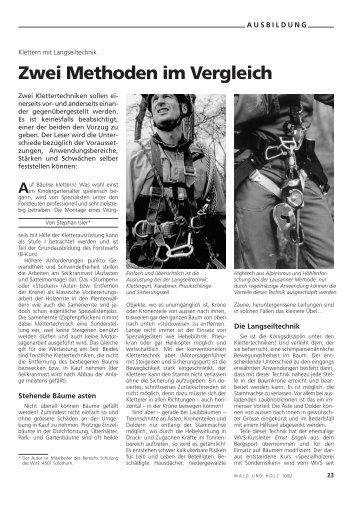 Zwei Methoden im Vergleich - Waldwissen.net