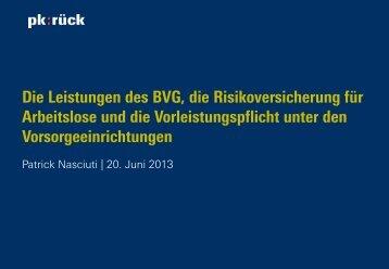 Die Leistungen des BVG
