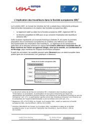 Stages of the establishment of SEs: - WORKER PARTICIPATION.eu