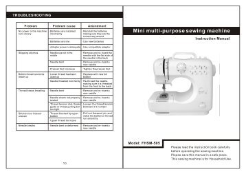 lil sew and sew lss 505 instructions