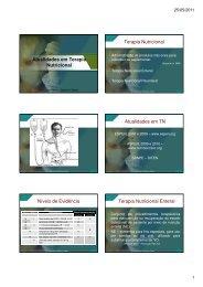 Atualidades em Terapia Nutricional Terapia ... - Nutrição em Foco