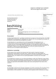 NL211295 - Inspectie Leefomgeving en Transport