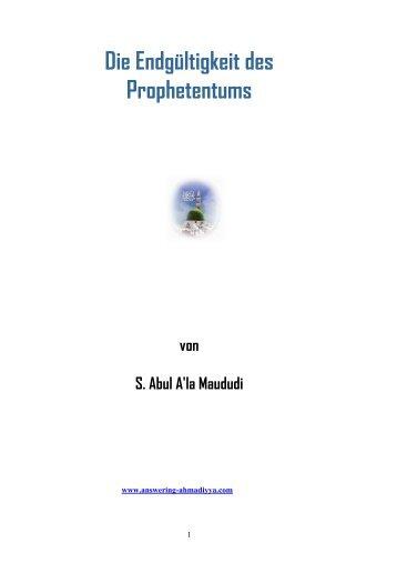 Die Endgültigkeit des Prophetentums.pdf - Way to Allah