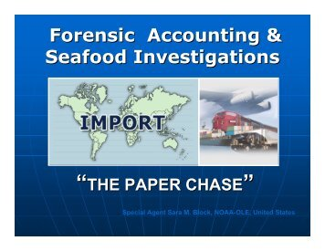 Forensic Accounting & Seafood Investigations - International MCS ...