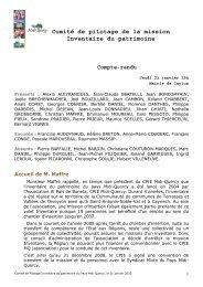 Compte-rendu Comité de pilotage Inventaire ... - Pays Midi-Quercy