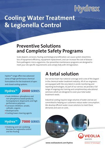 Cooling Water Treatment & Legionella Control A total solution ...