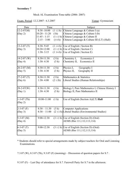 O/l exam result 2007