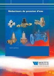 Réducteurs de pression d'eau - Watts Industries Europe