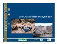 d. Characterization of  site hydrology